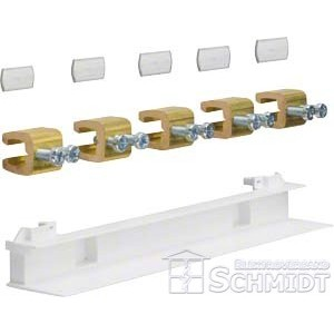 Hager ZM15F - Sammelschienenverbinder, Feld/Feld, univers Z, 5-polig, CU 12x5mm, 250A