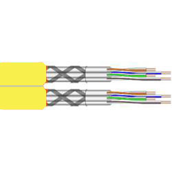 Draka TN-7000-5, Datenkabel Cat.7A, S/FTP (1200 MHz), Duplex 2x4x2xAWG23, gelb, Meterware