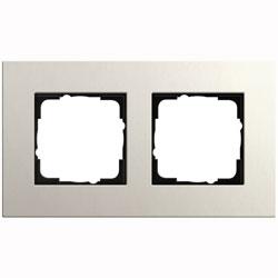 Abdeckrahmen 2-fach - Esprit (Linoleum-Multiplex Hellgrau)