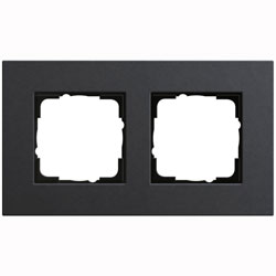 Abdeckrahmen 2-fach - Esprit (Linoleum-Multiplex Anthrazit)