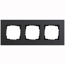Abdeckrahmen 3-fach - Esprit (Linoleum-Multiplex Anthrazit)