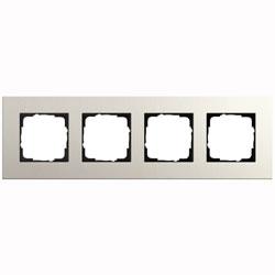 Abdeckrahmen 4-fach - Esprit (Linoleum-Multiplex Hellgrau)