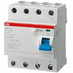 ABB FI-Schutzschalter F204A-40/0.03, 40A - 30mA - 4polig