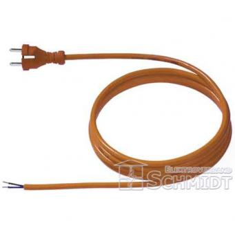 Bachmann PUR-Konturen-Zuleitung, H05BQ-F 2x1,0 mm², orange - 3 Meter
