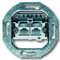 Busch-Jaeger UAE-Anschlussdose 2x8 (8)-polig, Kat.3 - 2fach