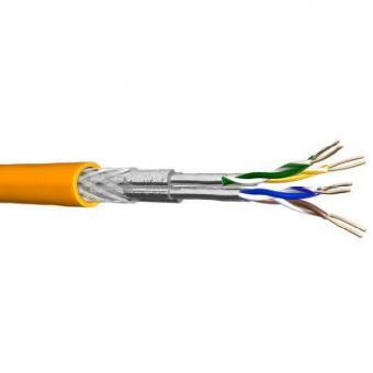 Draka UC MULTIMEDIA 1500 SS22, Datenkabel Cat.7A, S/FTP (1500 MHz) 4x2xAWG22, melonengelb, Meterware