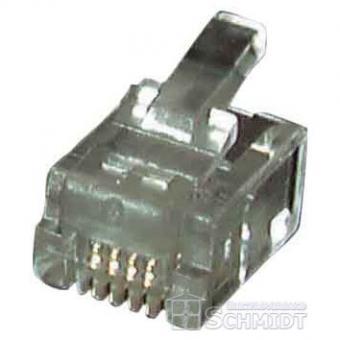 Modular-Stecker 8/8 SR RJ45 für Rundkabel, ungeschirmt - 100 Stück