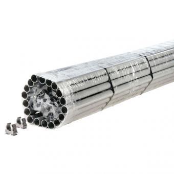 Fränkische FPKu-EM-F 25 Set, Ø 25mm, grau, 74m Kunststoffstangenrohr + 100 Clipfix