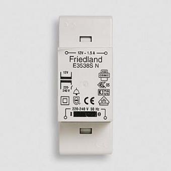 Friedland E3554SN - Klingeltransformator 8V / 2A mit EIN/AUS