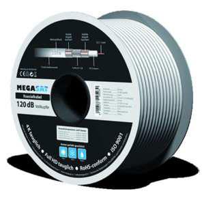 MEGASAT Koaxialkabel, 120dB - 100m Ring