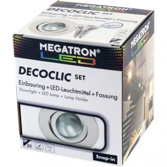 Megatron MT75400 LED-Einbauspot Set 2800K, weiß